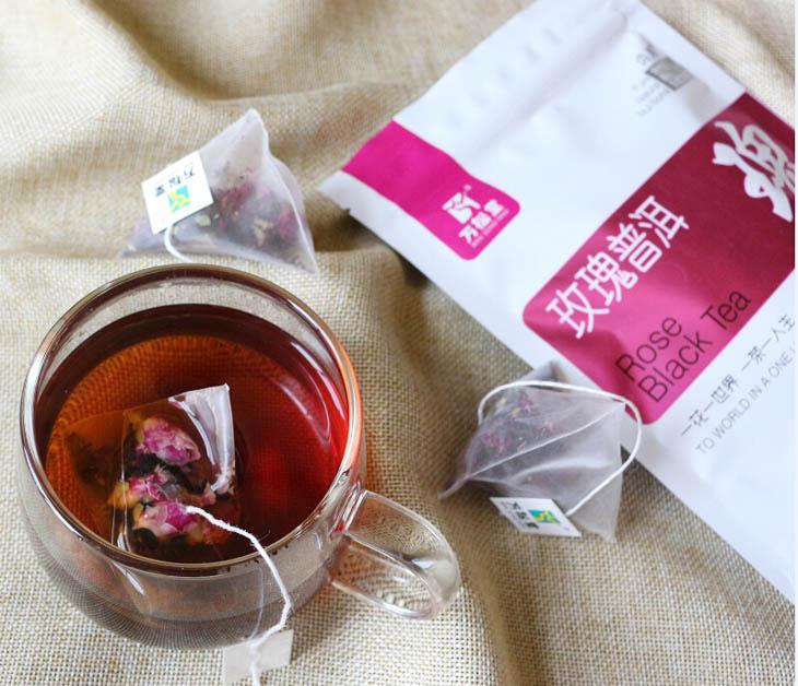系列三角包花草茶花果茶美颜茶招商 玫瑰普洱茶 茉莉绿茶 蜜桃乌龙茶