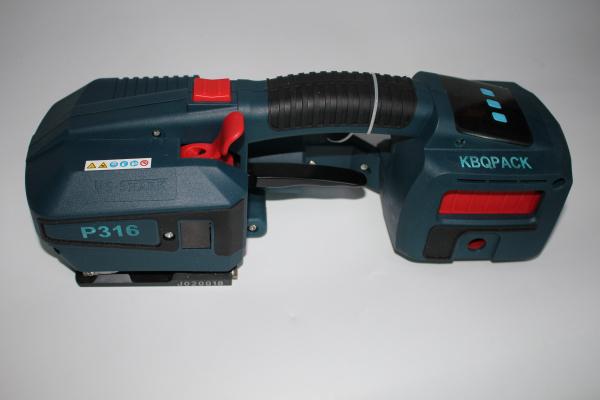 深圳充电式打包机,P316电池式打包机,塑钢带热熔包装机
