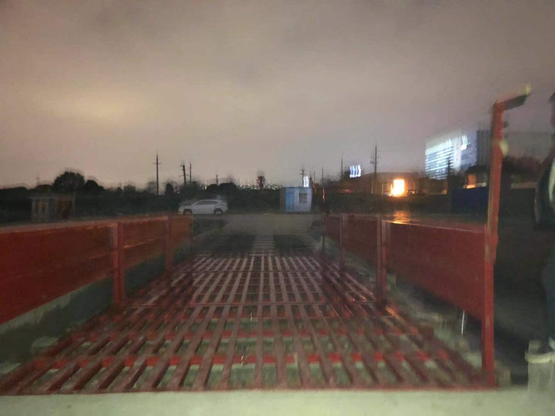 长沙工地用9米全自动洗车平台/那卖渣土车轮胎洗车设施